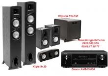 DENON AVR-X1000 + KLIPSCH 20 + KLIPSCH SW-350