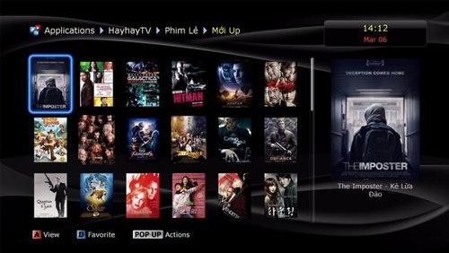 Đầu HD Dune thêm tính năng xem phim trực tuyến