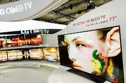 TV OLED màn hình cong chuẩn bị về Việt Nam