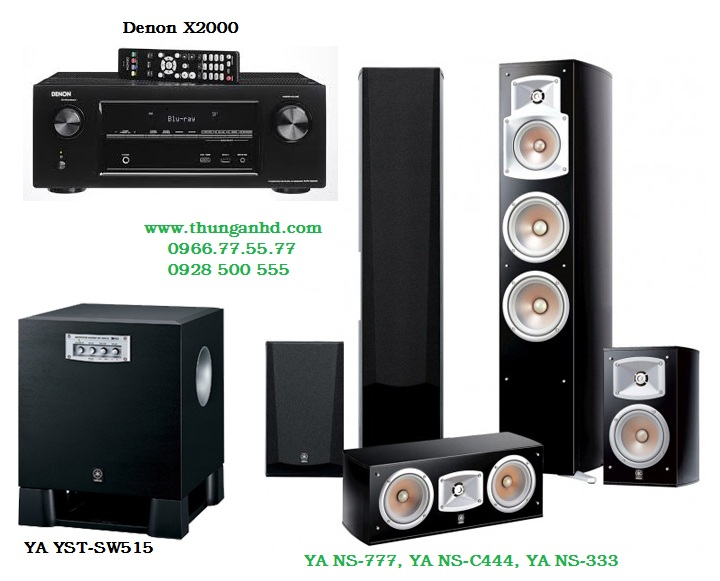 DENON AVR-X2000 + YA NS-777, YA NS-C444, YA NS-333 & Sub YA YST-SW515