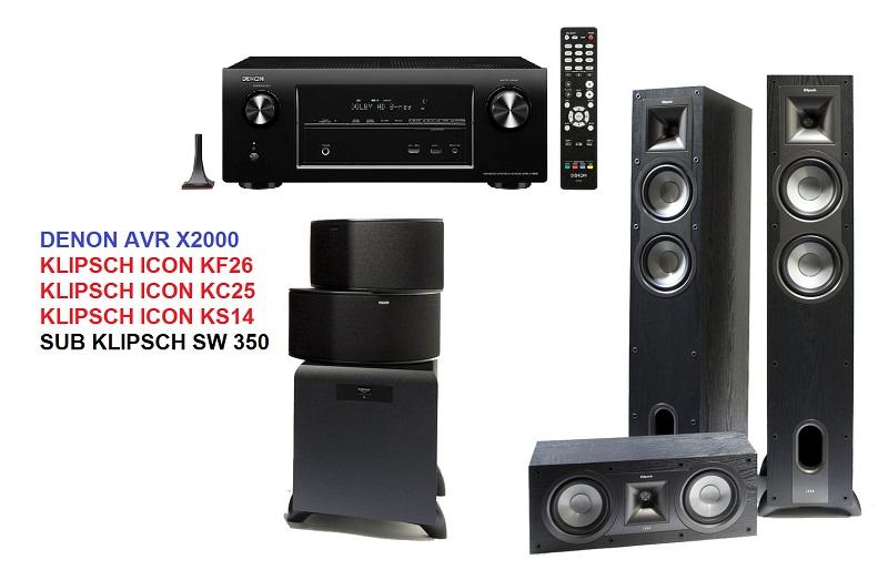 DENON AVR X2000 + KLIPSCH ICON + SUB