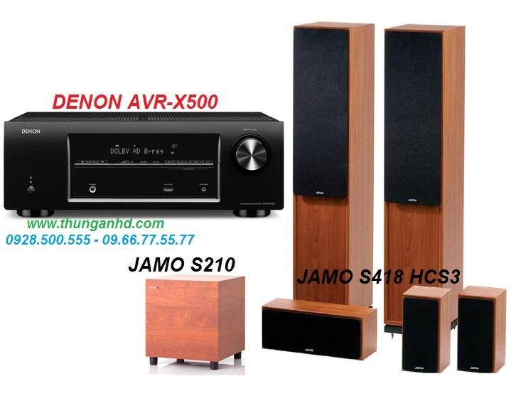 DENON AVR-X500 + JAMO S418 HCS3 + JAMO S210