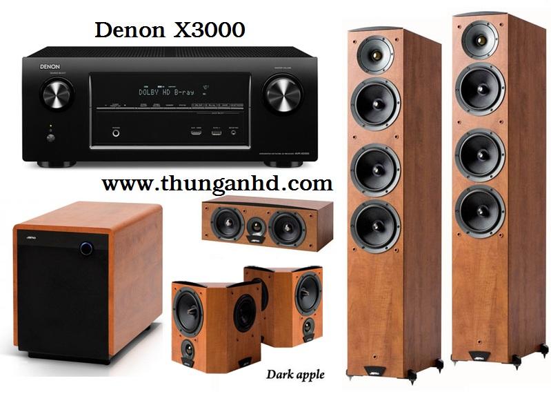 DENON AVR X3000 + JAMO C607 + JAMO C60 + JAMO 260