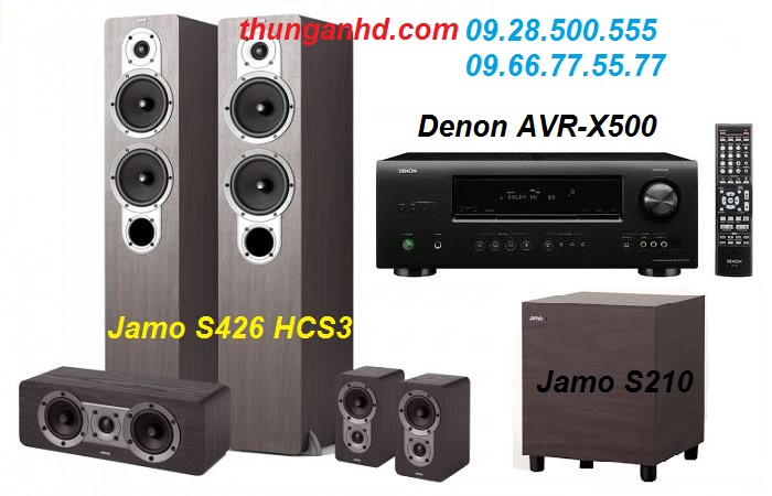 DENON AVR-X500 + JAMO S426 HCS3 + JAMO S210