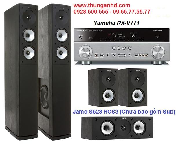 YAMAHA RX-V771 + JAMO S628 HCS3 = Bộ Dàn 5.0