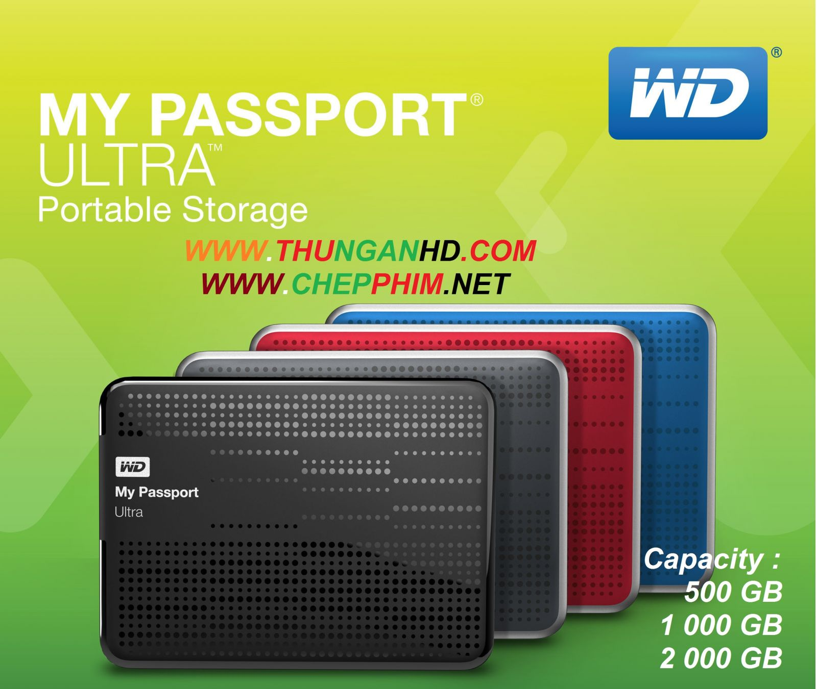 2000GB My Passport Ultra Portable - USB 3.0